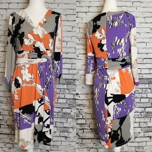 Maggy London Wrap Style Dress